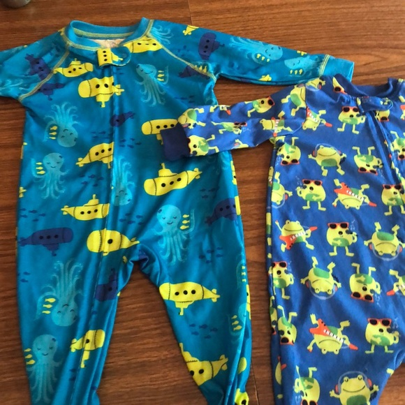 70e3e10c6 Little Me Pajamas | Two Bright Fun Boys Sleepers | Poshmark